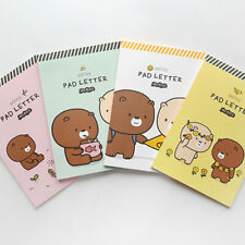 54sheets Bear Couple - Writing Stationery Paper Letter Pad Lined Stationary