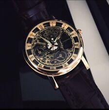 Mens Vintage Leather Quartz Wrist Watch Skeleton Style. 99p No Reserve!