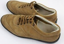 HOGAN Mens Suede Casual Lace Up Sneaker Beige Shoes Size 9.5 Made In Italy