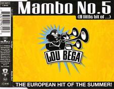 LOU BEGA MAMBO NO5 (A LITTLE BIT OF) 3 TRACK CD SINGLE FREE P&P