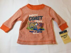 Osh Kosh B'Gosh Boys Baby Long Sleeve waffle T Shirt Size Variation What a Catch