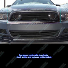 Fits 2013-2014 Ford Mustang GT Black Main Upper Billet Grille Insert