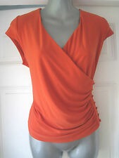 V Neck Cap Sleeve Stretch Petite Tops & Shirts for Women