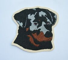 patch, rotlweiller, chien , broder et thermocollant 8/9cm , EPUISER