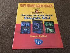 "(RSM14) MOVIE ADVERT 12X10"" STARGATE SG-1"