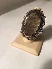 Echo of the Dreamer Sterling Hematite Druzy Ring