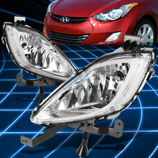 Chrome Clear Front Driving Fog Light/Lamp Pair for 2011-2013 Elantra MD/UD 4dr