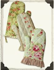 Victorian Trading Co Shabby Chic Vintage Floral Print Oven Mitts Set of 3