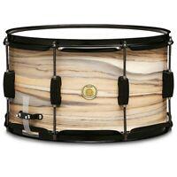"TAMA Woodworks 14x8"" Poplar Snare Drum Natural Zebrawood Wrap"