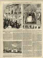 1891 IL SIGNOR goshen visita a Edimburgo Charles GRANDE RICATTO