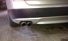 Terminale Scarico BMW X3 F25 da 2010 Xd Rive Tubo Finale Doppio 2x80mm Inclinato
