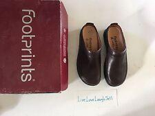 NIB FOOTPRINTS BIRKENSTOCK, ASHBY, CLOGS, Brown, SZ 36 (US 6-6.5), leather