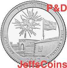 2013 P&D Fort McHenry National Memorial Shrine MD STATE PARK QUARTER SET PD Ft.