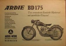 Prospekt Motorrad Ardie BD 175   - äußerst selten!