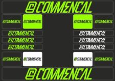 COMMENCAL Mountain Bicycle Frame Decal Stickers Graphic Adhesive Set Vinyl Green