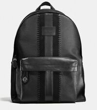 Coach 1941 Bleecker Rucksack Embossed Buffalo Leather/Suede Black Backpack