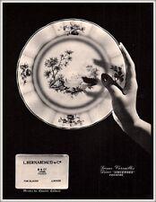 1966 AD FRENCH BERNARDAUD CO LIMOGES FRANCE PLATE VERSAILLES DECOR VINCENNES