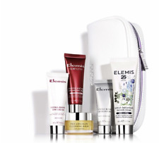 Elemis British Botanicals 5 Piece Set with White Faux Leather Bag Normal / Dry