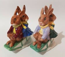 Unique and Rare – Two Royal Doulton Bunnykins Db4 Billie and Buntie Sleigh Ride