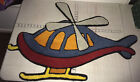 """Helicopter Rug - Cartoon Kids - Great Condition- 39"""" -Red, Blue, Yellow"""