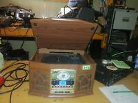 Auna 1000-7044 Hi-fi turntable, USB, SD CD, Tuner, Tape, cassette,   (372)