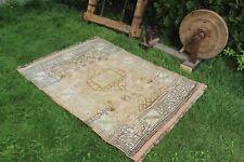 """Vintage Handmade Turkish Oushak Area Rug 72""""x50"""""""