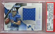 2009 PLAYOFF NATIONAL TREASURES Matthew Stafford auto. rookie card PSA 9 #38/50