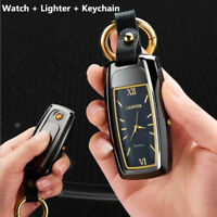New USB charge Electronic lighter and Watch and flashlight and cigarette lighter