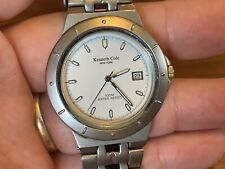 "Men's KENNETH COLE Stainless Steel WATCH w/ white face 7"" Band"
