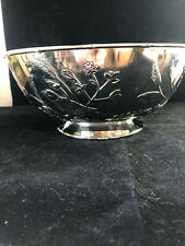 Silver Metal Decorative Centerpiece Bowl Large