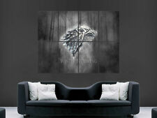 GAME OF THRONES TV WINTER IS COMING  ART IMAGE HUGE  LARGE PICTURE POSTER GIANT