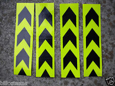 """REFLECTIVE ARROWS DIRECTIONAL  YELLOW SAFETY TAPE, 8 pcs, ea 8""""x2""""  FREE SHIP"""