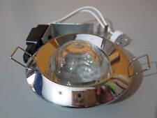 SUPPORTO PORTAFARETTO per FARETTO DA INCASSO CON VETRO PORTA LAMPADA GU5.3 12v