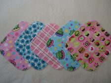 Set of 10 Flannel Cloth Wipes or Washcloths - Homemade Size 8in x 8in each