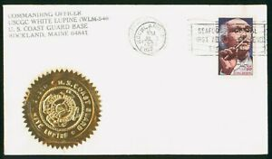 Mayfairstamps US 1989 Maine USCGC White Lupine Toscanini Composer Cover wwr_0448