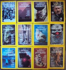 1982 National Geographic Magazine Complete Year + All 5 Map Inserts