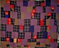COLLECTORS ANTIQUE DOG QUILT ONE OF A KIND SMALL SIZE MULTIPLE DOG PATCHES