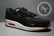 NIKE AIR MAX 1 PREMIUM 875844-007 BRED BLACK GREY RED DS SIZE: 10