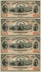 $500 Hawaii Hawaiian Islands Obsolete Currency Sheet Silver Cert REPRODUCTION