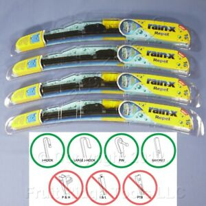 """4 Rain-X 16"""" Windshield Wiper Blades Repel Water-Beading All Weather"""