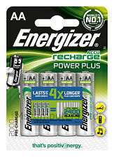 4 Pack Of Energizer Accu Recharge Power Plus AA Batteries 2000mAh Pre-charged