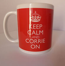 New Keep Calm and Corrie On Carry On Gift Present Mug Cup Coronation Street Fun