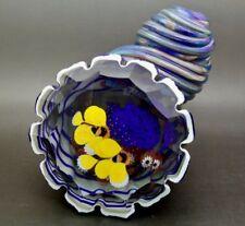 """JUSTIN LUNDBERG Shell AQUARIUM Art Glass Magnum LT ED Paperweight,Apr 4.5""""Hx5""""L"""