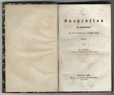 Franz Kober : Die Suspension der Kirchendiener. - Tübingen, Laupp, 1862