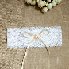 Vintage Ivory Lace Wedding Bridal Garter