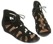 "NEW Size 7.5 Clarks ""Parram Lux"" Ladies Black Nubuck Summer Sandals 34"