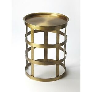 Butler Regis Industrial Chic Accent Table, Gold - 6118330