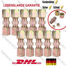 10x Bremsleitungsverbinder für Bremsleitung ca.4,75mm ohne zu bördeln Verbinder