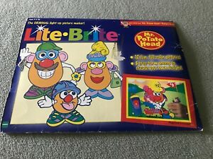 1998 MR. Potato Head Lite Brite Refill Pack-12 Fun FULL COLORS & 8 Guide Sheets!