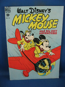 FOUR COLOR 214 MICKEY MOUSE F+ HIS SKY ADVENTURE 1948